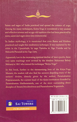 The Lineage of Kriya Yoga Masters